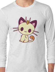 Kawaii Chibi Meowth Cat Long Sleeve T-Shirt