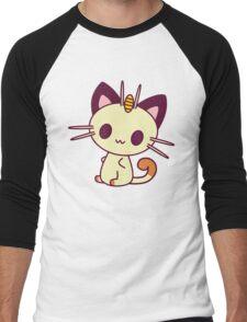 Kawaii Chibi Meowth Cat Men's Baseball ¾ T-Shirt