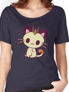 Kawaii Chibi Meowth Cat Women's Relaxed Fit T-Shirt