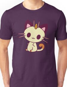 Kawaii Chibi Meowth Cat Unisex T-Shirt