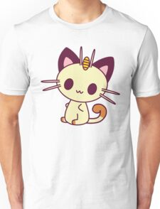 Kawaii Chibi Meowth Cat Unisex T-Shirt