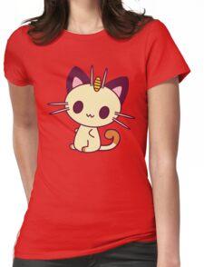 Kawaii Chibi Meowth Cat Womens Fitted T-Shirt