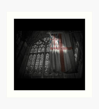Flag at the Cathedral Art Print