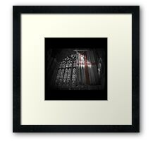 Flag at the Cathedral Framed Print