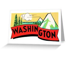 Washington WA State Vintage Travel Decal Greeting Card