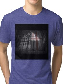 Flag at the Cathedral Tri-blend T-Shirt