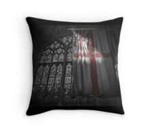 Flag at the Cathedral Throw Pillow