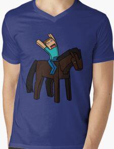 Horse Rider Mens V-Neck T-Shirt