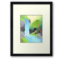 Lehti at the waterfall Framed Print