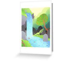 Lehti at the waterfall Greeting Card