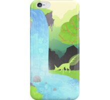 Lehti at the waterfall iPhone Case/Skin