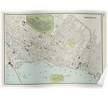 Vintage Map of Montreal (1901) Poster
