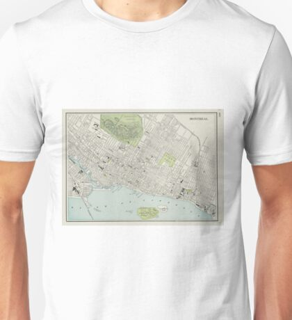 Vintage Map of Montreal (1901) Unisex T-Shirt