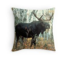 Huge Moose  Throw Pillow