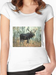 Huge Moose  Women's Fitted Scoop T-Shirt