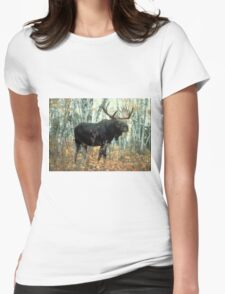 Huge Moose  Womens Fitted T-Shirt