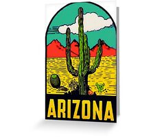 Arizona AZ State Vintage Travel Decal Greeting Card