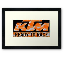 KTM Camouflaje Framed Print