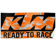 KTM Camouflage Poster