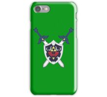 Hylian Shield and Master Sword Crest iPhone Case/Skin