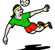 Cartoon Soccer Player by kwg2200