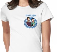 The Ultimate Sterek Alliance Blue T-Shirt [Small Logo] Womens Fitted T-Shirt