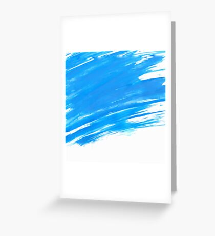 Blue Brush Paint Strokes  Greeting Card