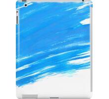 Blue Brush Paint Strokes  iPad Case/Skin