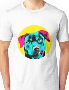 Yellow Bubble Rottweiler Pop Art Unisex T-Shirt