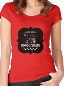 Song Lyrics Head Women's Fitted Scoop T-Shirt
