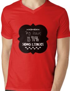 Song Lyrics Head Mens V-Neck T-Shirt