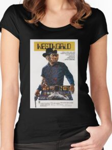 Westworld Poster Women's Fitted Scoop T-Shirt