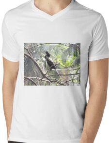 Little Cormorant on a tree Mens V-Neck T-Shirt