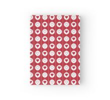 Hearts and Circles Pattern | Red and White Hardcover Journal