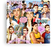 Dave Franco and Zac Efron Collage Edit Canvas Print