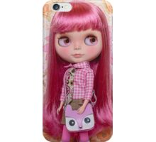 Pink haired beauty iPhone Case/Skin
