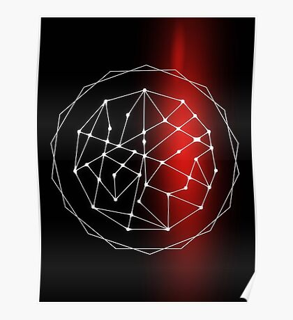 Abstract Star Chart Geometric Poster