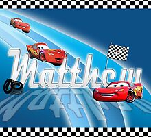 MATTHEW /  disney cars style name illustration by FSImages