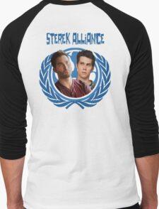 The Ultimate Sterek Alliance II Blue T-Shirt [Back] Men's Baseball ¾ T-Shirt
