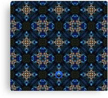 Kaleidoscope Golden Blue Canvas Print