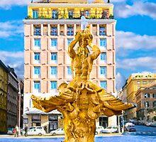 Classic BerniniTriton Fountain in Piazza Barberini by Mark Tisdale