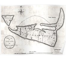 Vintage Map of Nantucket (1782) Poster