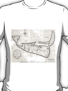 Vintage Map of Nantucket (1782) T-Shirt