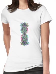 abstract peneaple multicolour Womens Fitted T-Shirt