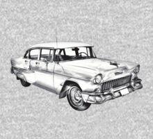 1955 Chevrolet Bel Air Illustration Kids Clothes
