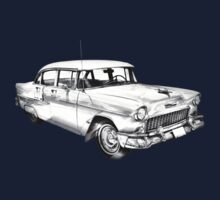 1955 Chevrolet Bel Air Illustration One Piece - Short Sleeve
