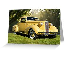 1934 LaSalle Rumble Seat Coupe Greeting Card