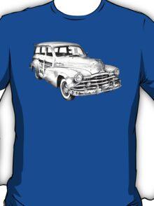 1948 Pontiac Silver Streak Woody Illustration T-Shirt