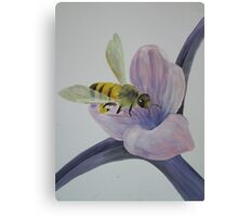 Bee a Humble Worker Canvas Print