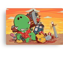 Cool and Nerd Dinosaur  Canvas Print